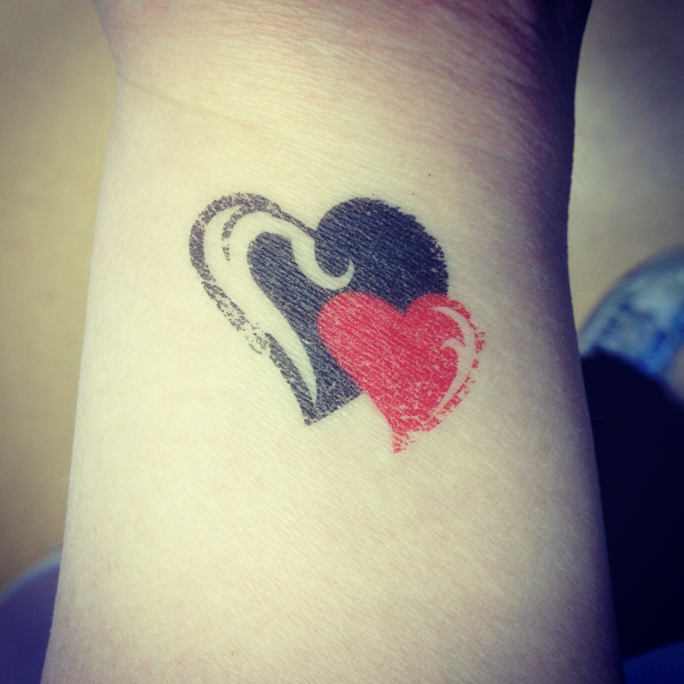 Best Heart Tattoos on wrist for couples - 8787675664