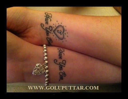 Matching Love Couples Tattoos 1
