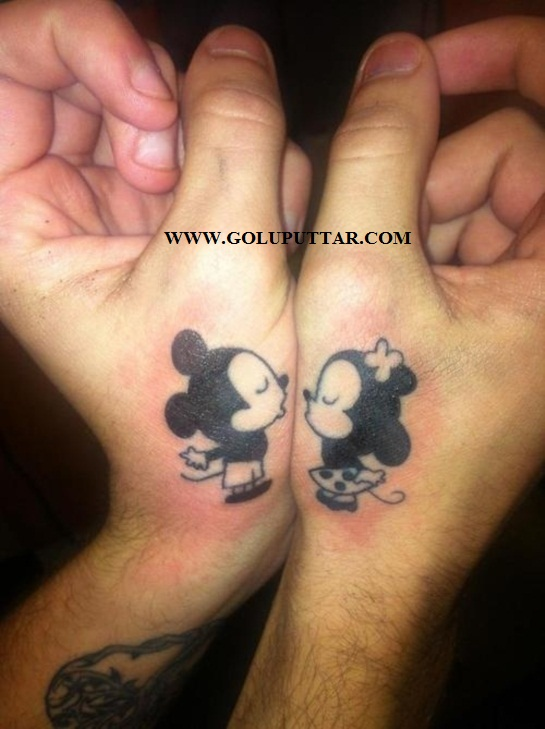 cute cartoon tattoos for loved ones - 789954563