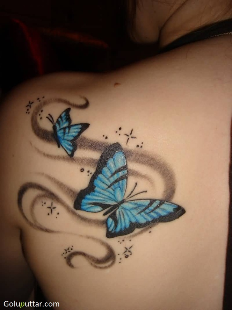 3d butterfly tattoos. Black Bedroom Furniture Sets. Home Design Ideas