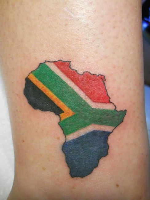 Attractive Collaboratio Of African Flag And Map