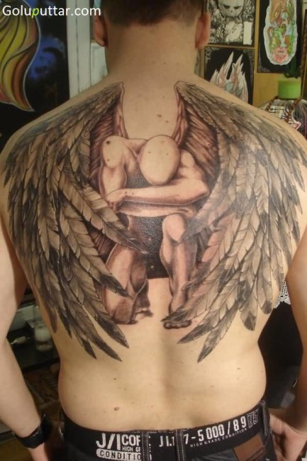 Awesome 3D Angel Tattoo For Men