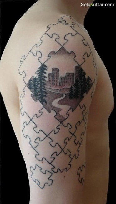Best 3D Puzzle Tattoo Ever