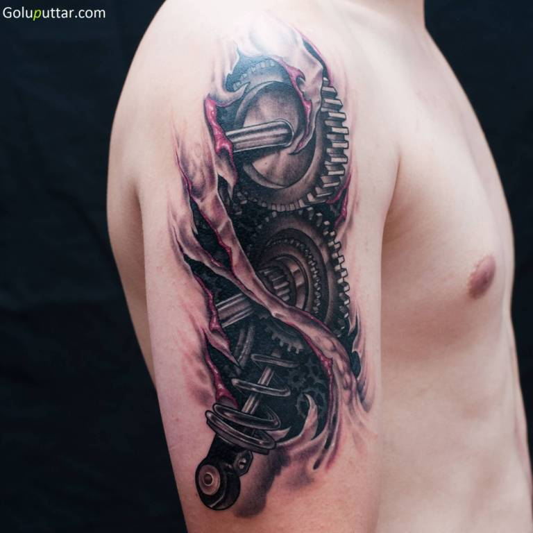 3d ripped skin tattoos for Best tattoo inks