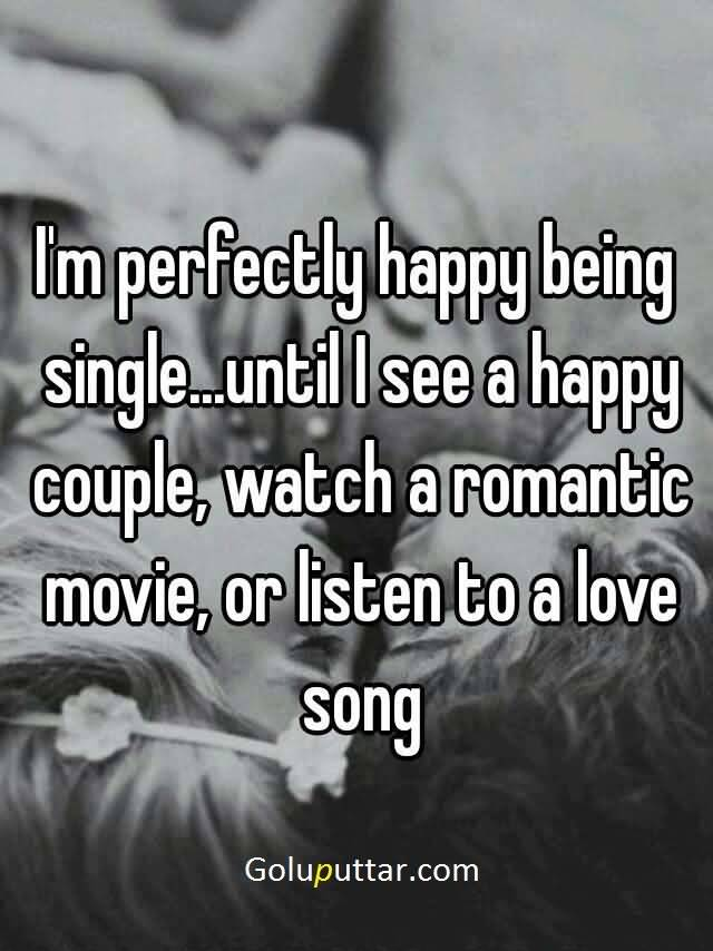 sad quotes about being single