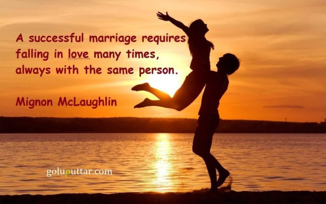 Brilliant Anniversary Quote Marriage Mean Falling In Love Many Times