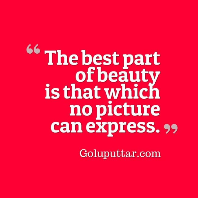 Brilliant Beauty Quote Picture Can't Express Beauty