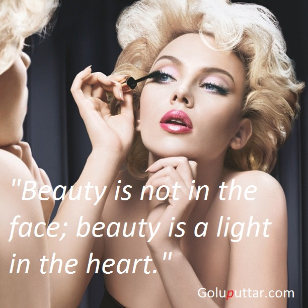 Famous Beauty Quote Beauty Is The Light Of Heart