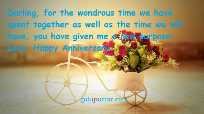 Mind Blowing Anniversary Quote Time We Spent Together Give The New Purpose To Life