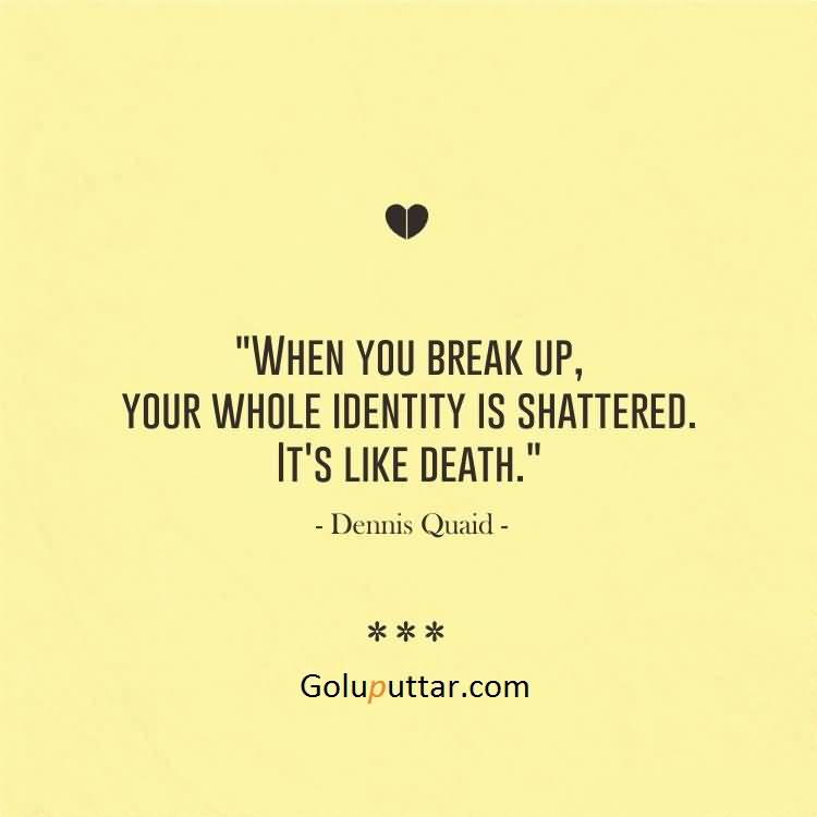 After Break Up Quotes Beauteous New Break Up Quote After Break Up Identity Shattered Photos And
