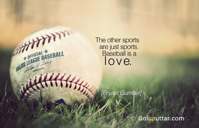 Perfect Baseball Quote Baseball Is A Love