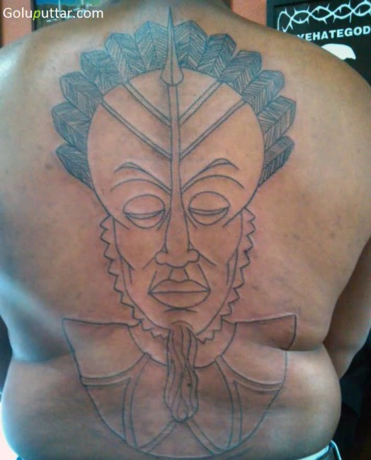 Popular Mask Tattoo Of King