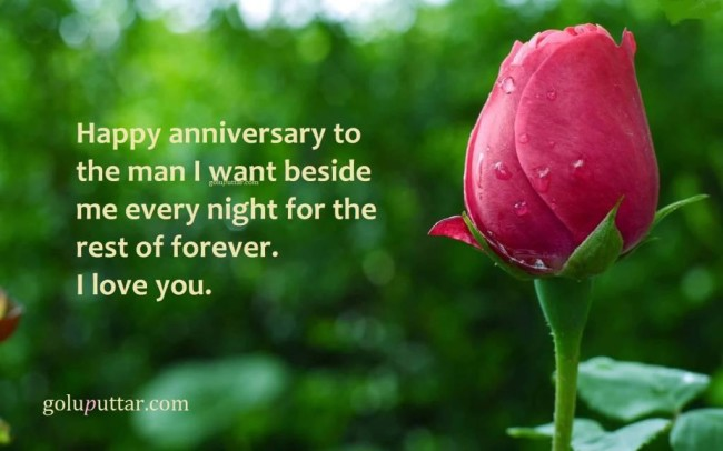 Romantic Anniversary Quote - Live With  Love Forever