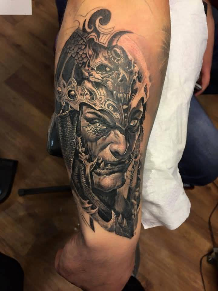 Scary 3d face tattoo for Arguments against tattoos