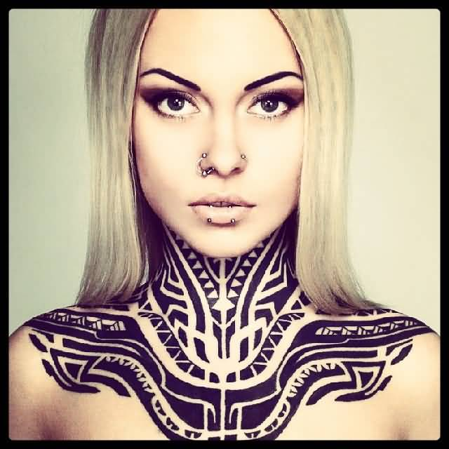 Amazing Predator Symbol Tattoo For Woman S Neck Goluputtar Com