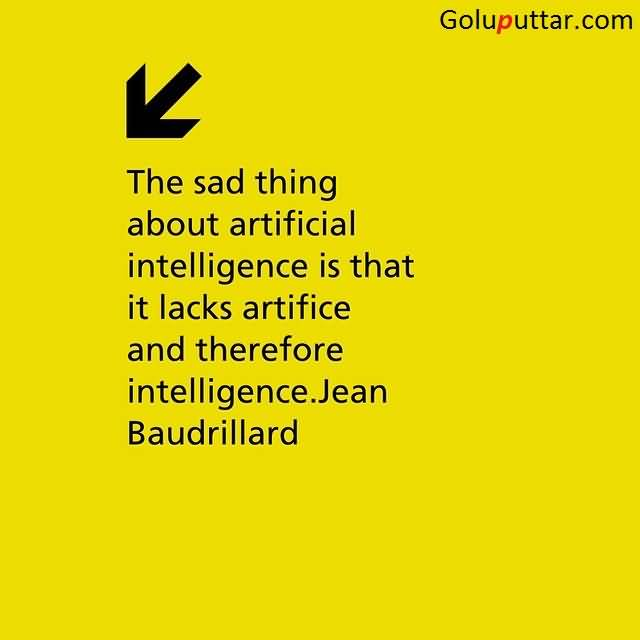 Charmant Amazing Sad Quote About Artificial Intelligence