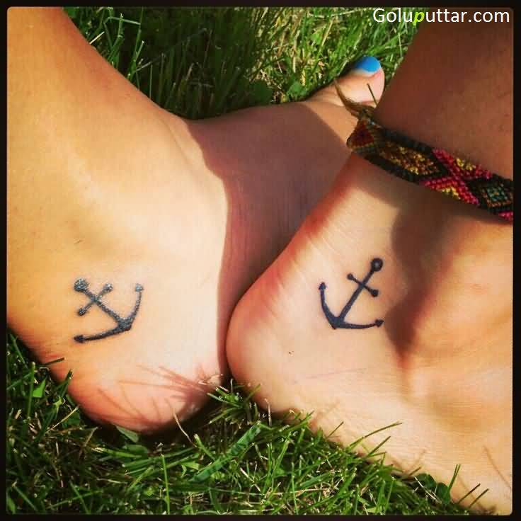 Attractive Anchor Tattoo On Ankle - Copy