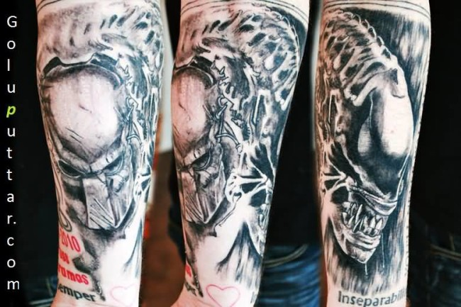 Attractive Predator Tattoo On Man's Arm