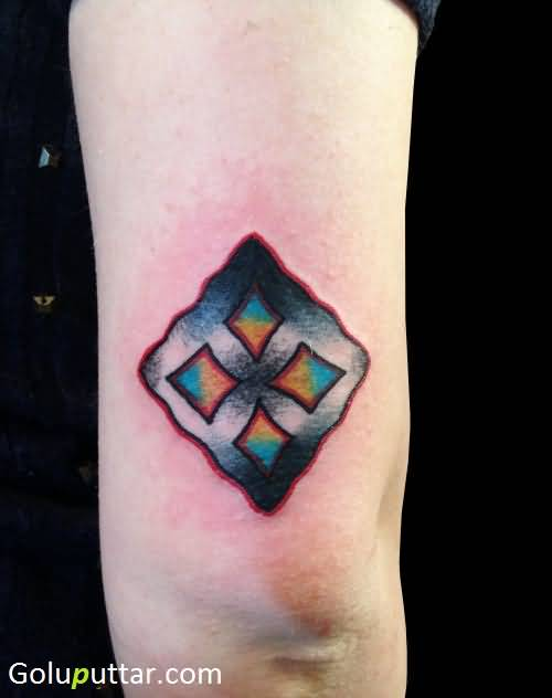 Awesome Eban Symbol Tattoo