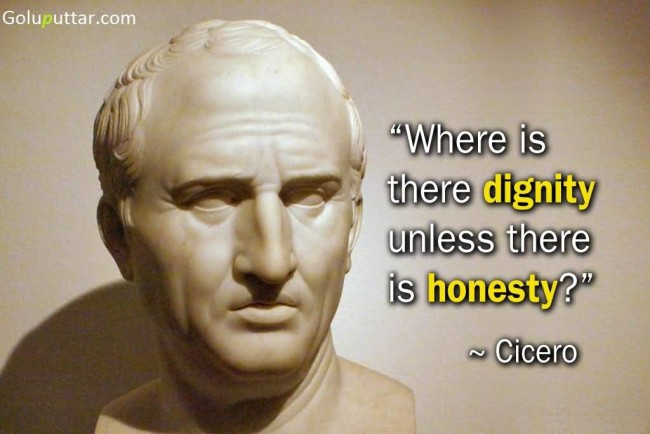 Awesome Honesty Quote By Cicero