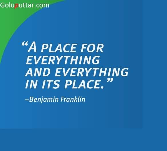 Awesome Inspirational Quote By Benjamin Franklin