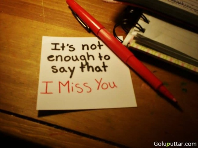 Awesome Missing You Quote It's Not Easy To Say I Miss You