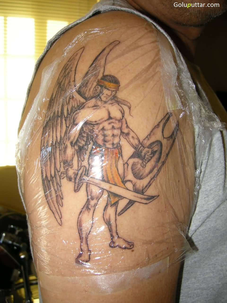 angel warrior tattoos