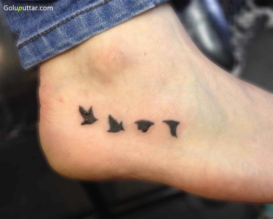 Best Bird Ankle Tattoo Made By Expert - Copy