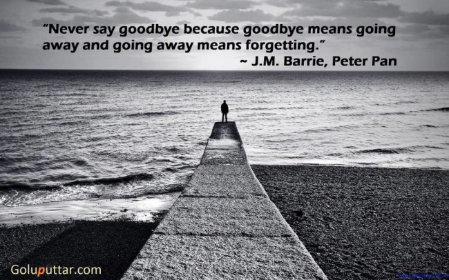 Best Goodbye Quote Never Say Goodbye