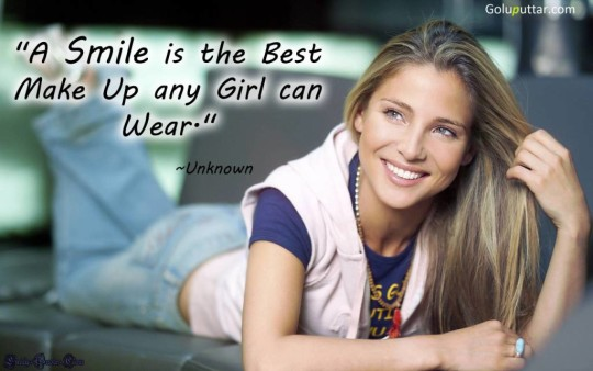 Best Smile Quote It's A Best Makeup For Any Women