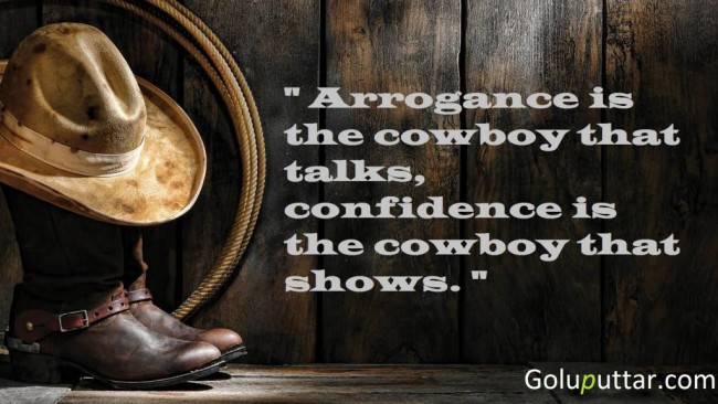Brilliant Cowboy Quote He Shows Confidence