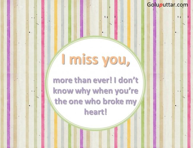Brilliant Missing You Quote About Broken Heart
