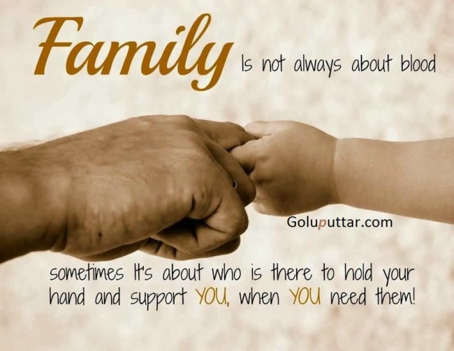 Cool Family Quote It's Not About Blood