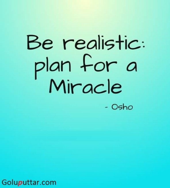 Cool Miracle Quote By Osho