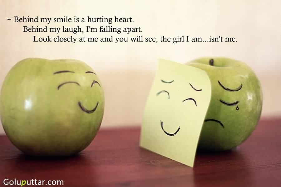 Cool Smile Quote Behind My Smile There Is Crying Heart ...