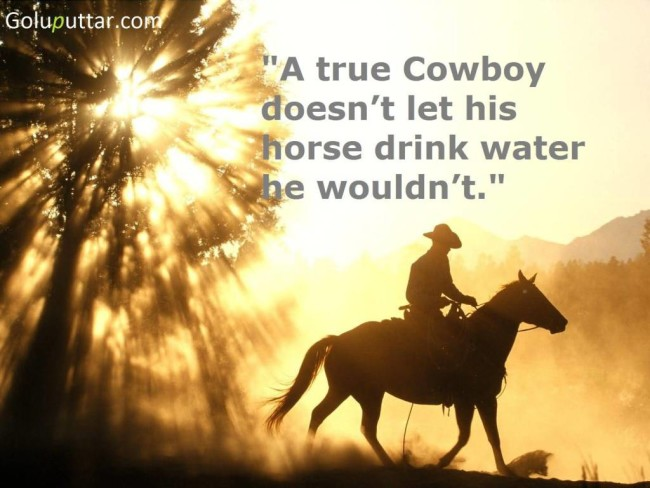 Fabulous Cowboy Quote About Horse
