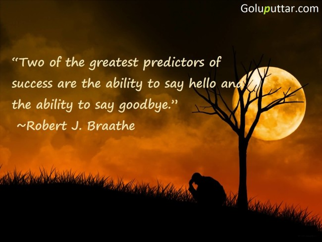 Fabulous Goodbye Quote By Robert J. Braathe