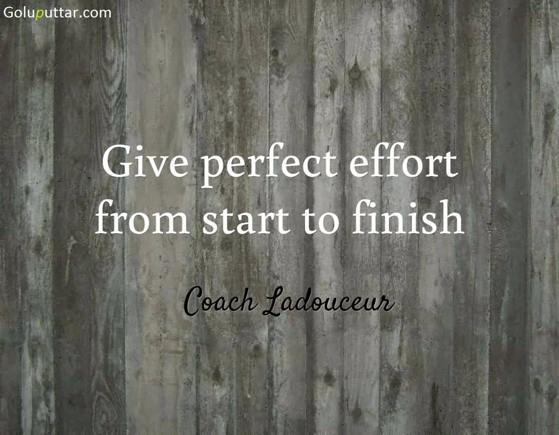 Quotes Effort Famous Effort Quote Always Give Perfect Effort  Goluputtar