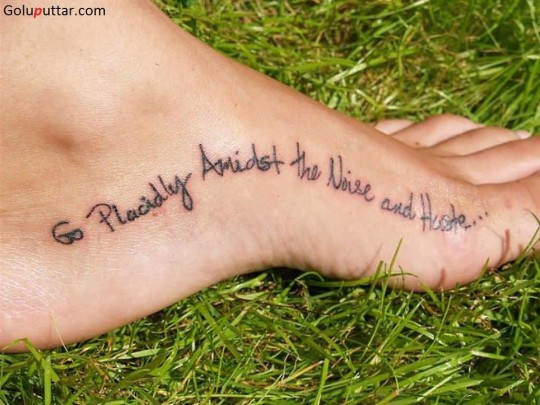 Famous Quote Tattoo On Ankle - Copy