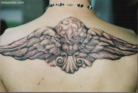 Famous Tattoo Design Of Angel Baby With Wings - Copy