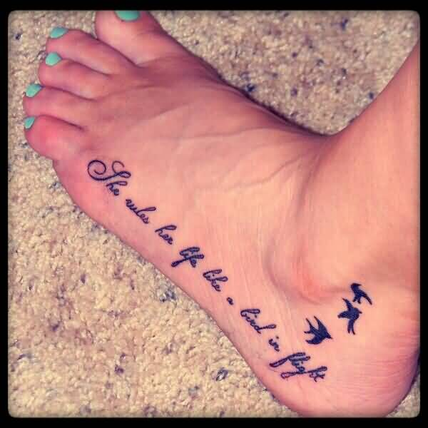 Bird ankle tattoos and photo ideas page 3 for Birds on ankle tattoo