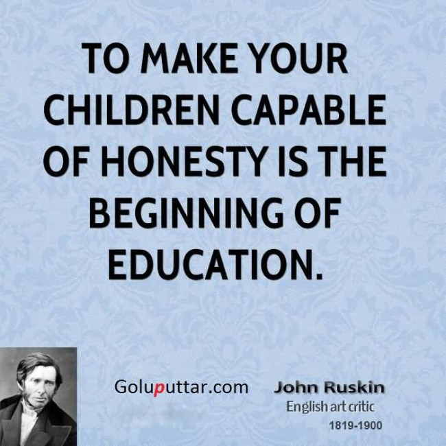Fantastic Honesty Quote By John Ruskin