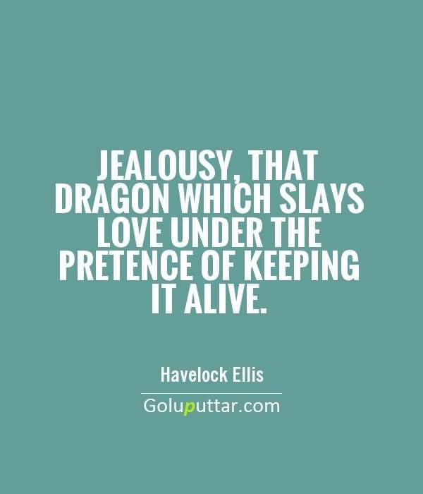 Fantastic Jealousy Quote By Havelock Ellis