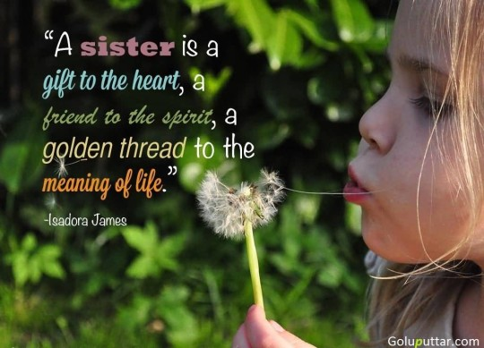 Fantastic Sister Quote It's A Lovely Gift For Heart