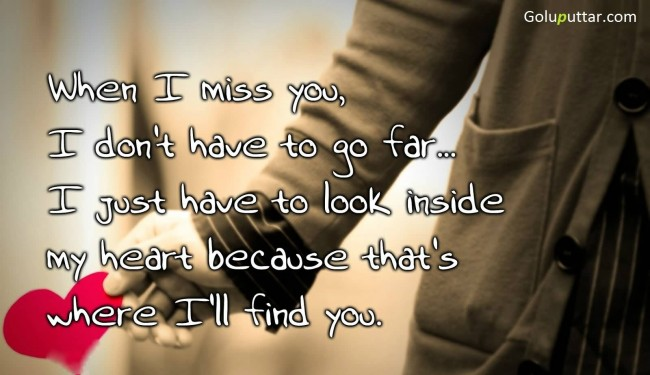 Funny Missing You Quote You Live In My Heart