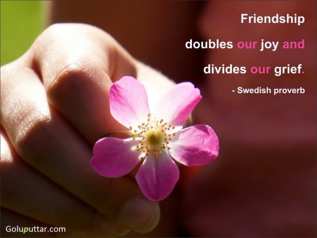 Impressive Joy Quote Friendship Doubles Our Joy