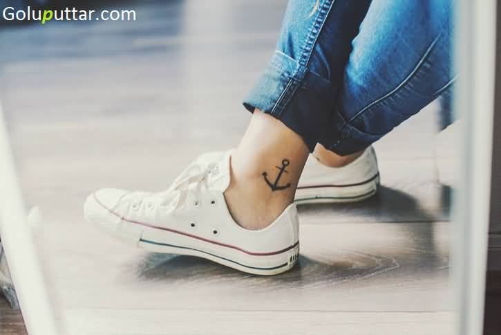 Latest Anchor Tattoo Design On Ankle - Copy