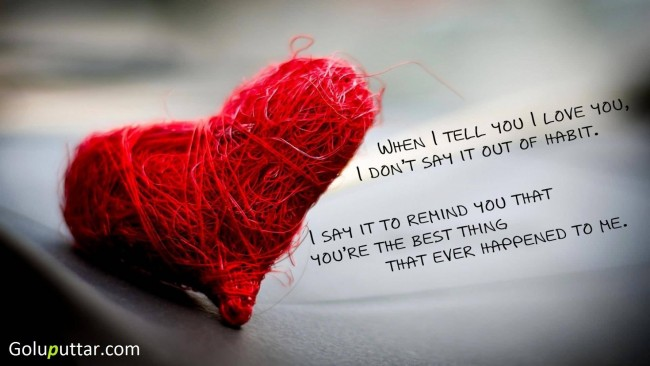 Latest Love Quote I Say It Because You Are Best Thing