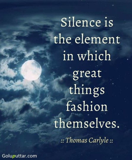 Lovely Silence Quote It's A Element