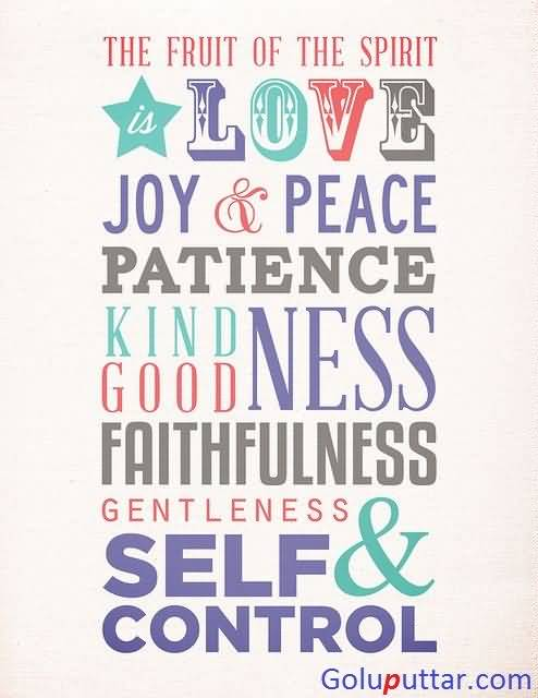 Mind Blowing Joy Quote About Faithfulness And Self Control